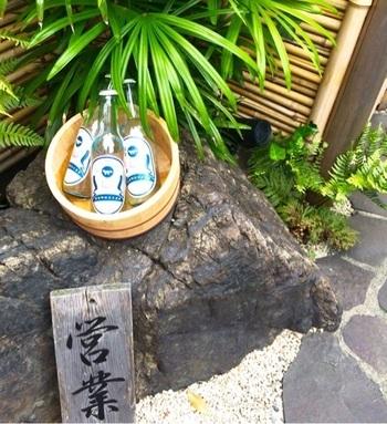 日本の茶室をモチーフにしてつくられたカフェキツネ。