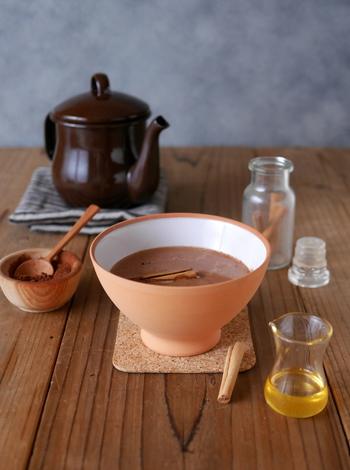小腹が空いた時に飲みたい!スパイスの香りとハチミツの自然な甘さに心まで癒されそうですね。