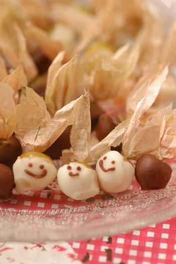チョコレートコーティングで、お洒落に。甘酸っぱさにビターなチョコがマッチしそうです!
