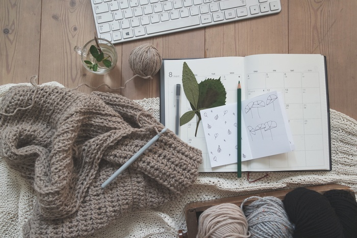 セーター以外にもアラン編みのアイテムがたくさんあります。