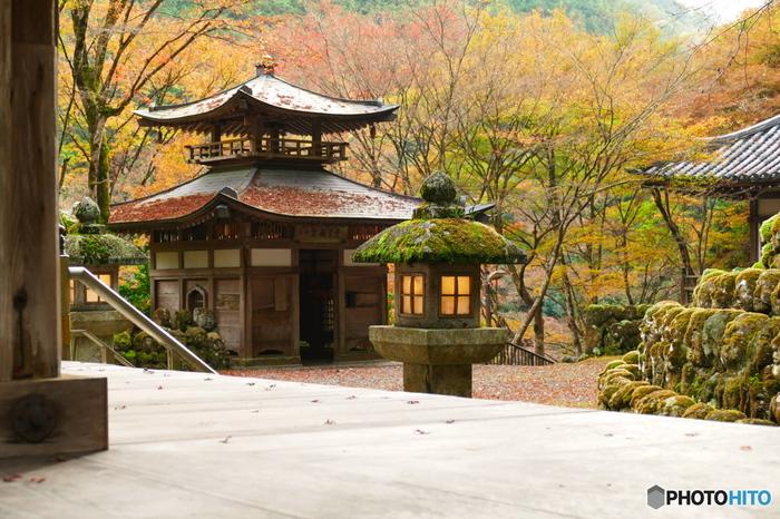 愛宕念仏寺は、嵐山から北へ徒歩40分ほどの奥嵯峨と呼ばれるエリアにあります。京都バス「愛宕寺前」下車すぐです