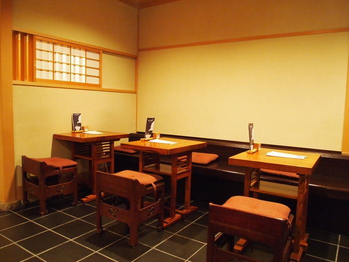 一保堂がおすすめな理由のひとつとして、喫茶室「嘉木」があるというところが大きいです。ほっこり穏やかな時間を楽しめる、素敵な「和」の空間です。