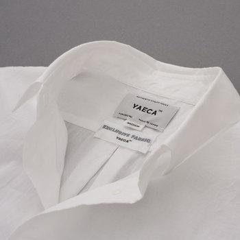 そこで今回おすすめしたいのが、YAECA(ヤエカ)のコンフォートシャツです。スタンダードで上質な日常着作りが得意なYAECAが、立ち上げ当初からリリースし続ける、ブランドの顔ともいえる存在です。