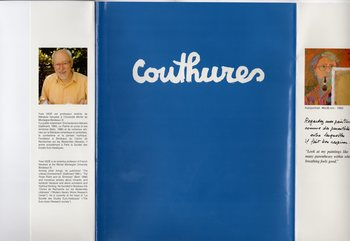 青い画集・・・2003年に出版されたクチュールの画集です。青に白のロゴが印象的です。都会であるパリは、彼のデザインワークスペース。一方、ペリグーは心身ともに解放されるアートスペースなのです。フランス人なら誰もが憧れる都会と田舎を行き来するライフスタイル「ピエタテール」を実践したクリエイターなのです。