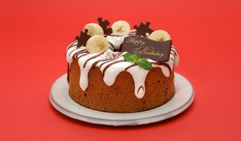 バースデーケーキにもぴったり!子どもが大好きなバナナとチョコを使った米粉シフォンです。