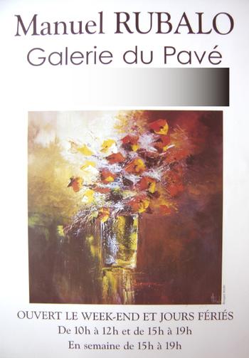 有名なギャラリー「ギャルリー・ドゥ パヴェ」での個展ポスター。走るような動きのあるタッチで描かれたブーケ。その背景に輝く光と影のコンストラストに神々しさを感じますね!