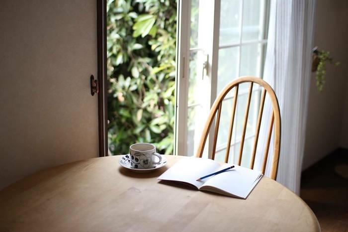 不規則な生活で決まった時間に手帳を開けない、ということも。そんな時は自分の心地いいと感じるものと関連づけて手帳にふれる事を繰り返してみてはいかがでしょう。たとえば「コーヒー」が好きならば、コーヒータイムに手帳を開くと決めてみるのもいいですね。