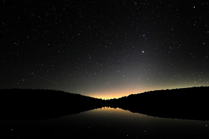 夜には降るような星空が!