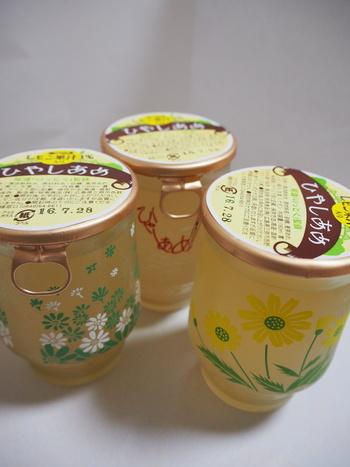 こちらも可愛らしい瓶に入っている「ひやしあめ」。この中にも瀬戸田産レモン果汁が入っています!