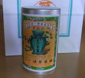 お馴染みのレトロなデザインの茶缶。ちなみに京都の料亭さんでもこちらのお茶を出されるところが多いんですよ。