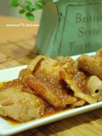 豚肉のお料理といえば生姜焼き!特製のジンジャーソースが絶品です。子供も大人も大好きな一品。今夜のおかずにいかかでしょう。