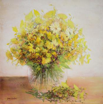 「黄色いブーケ」・・・全体を優しく溶かすようなイエローの色彩がロマンチックですね。