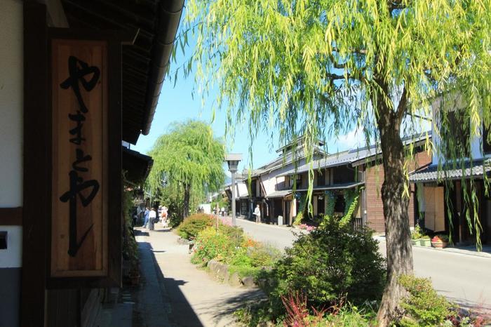 「柳町」の通りには、かつて数多くの旅籠屋や商家が軒を連ねていました。
