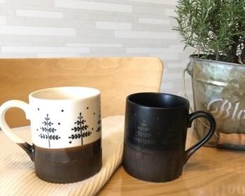 北欧風の柄が可愛いこちらの作品は、なんと美濃焼のマグカップ。ぽってりとした和陶器の優しい風合いが、ティータイムをほっこりさせてくれそうですね。