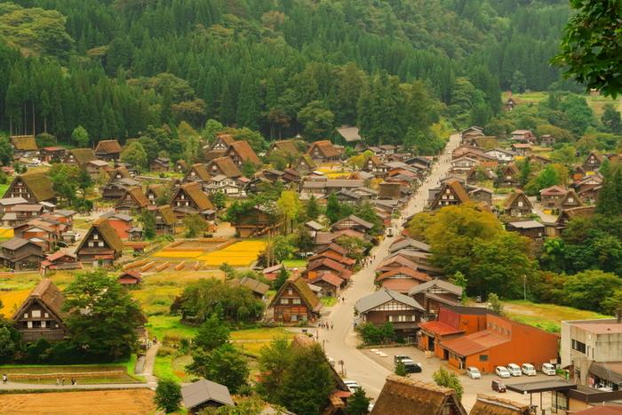 「白川郷」とは、岐阜県・庄川流域一帯の呼称です。白川郷の萩町地区は合掌造りの集落として有名で、1995年ユネスコの世界文化遺産にも登録されました。