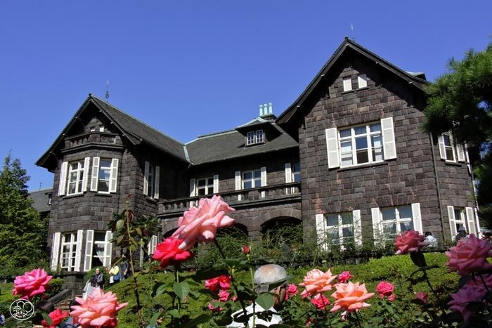 明治期には、陸奥宗光(むつむねみつ)の邸宅だったという洋館。ガイドさん付きで中を見学できるそうなので、ぜひ中にも入りたいですよね!