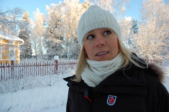 フェールラーベンのジャケットは、防寒性バツグン。 しっかり寒さをしのぐアウターと、ニット帽の組み合わせは北欧で実によく見かける服装です。