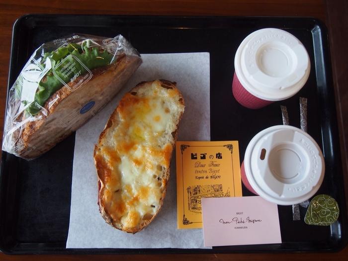 こちらの店舗、二階がイートイン&カフェになっています!鎌倉散策の思い出話をしながら、お気に入りのタルトやデニッシュを頂いてみてくださいね。