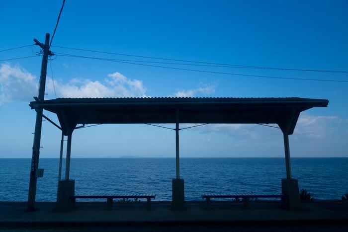 JR青春18きっぷのポスターで有名になりました。過去に、この下灘駅がなんと3度も採用されているそう!