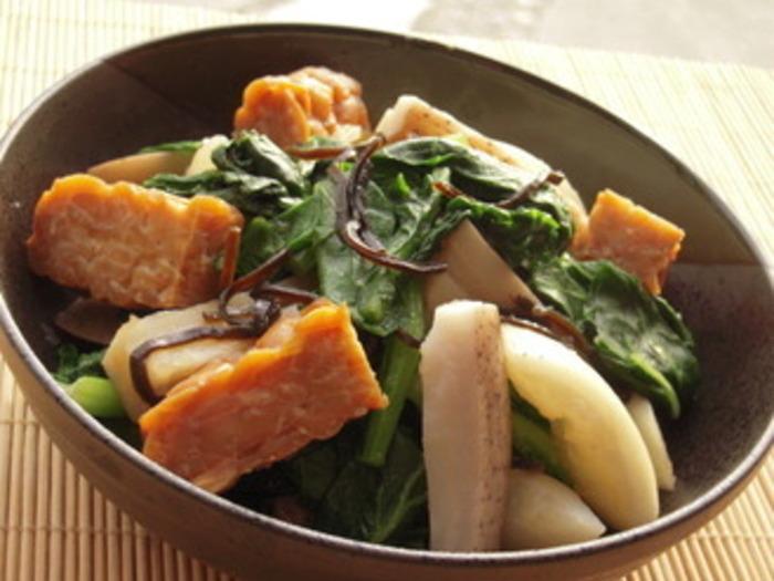 大豆でできているテンペですから、和風な料理にもよく合います。