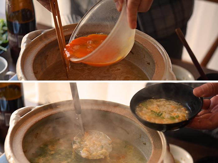鍋料理の醍醐味といっても過言ではない、〆の雑炊。お酒とともに食べることの多い鍋料理。〆の頃には酔いも回り、あらゆる具材から滲み出た、うまみたっぷりの汁を使った雑炊は、体に沁み入る贅沢な一品ですよね。