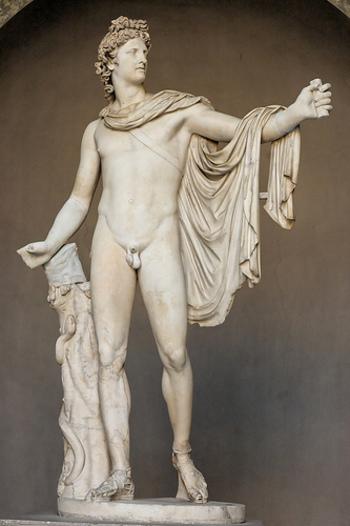 写真はベルヴェデーレのアポロン像