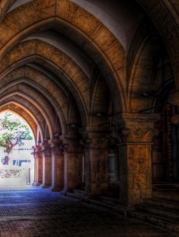 正門から安田講堂へと続く銀杏並木の両脇に建つのは、法文1号館と法文2号館。独特のスタイルは、本郷キャンパス建造物を代表するものです。