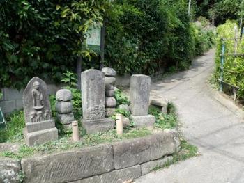 ここから天園ハイキングコースに入りますが、終点の天園までは行きません。  途中の三叉路で、明王院方向に進みます。 ※三叉路には、「瑞泉寺」「天園」「明王院」と標識があります。