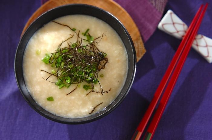 さっぱりとした長芋に味噌をプラスすることで、コクとまろやかさがUP。やさしくほっとするお味なので、胃腸がつかれているときに食べたいですね。