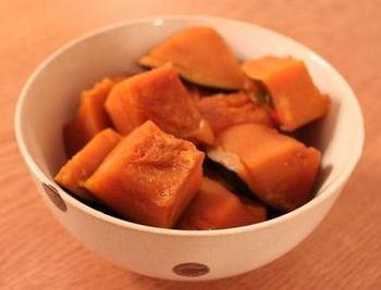 こちらも同量でほっくりした美味しいカボチャの煮物ができちゃいますよ!お弁当にもおかずとしても重宝する、栄養満点のカボチャの煮物、是非作ってみてくださいね。