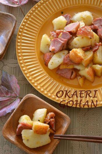 鴨の旨味とりんごの甘酸っぱさ、ホクホクのジャガイモが見事に調和。子どもも喜んでくれそうなメインディッシュです。