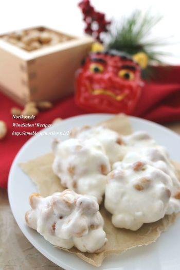 食感が楽しい♡マシュマロを使ったやみつきレシピ。こちらも材料3つほどでできるので、思い立った時に作れそう!