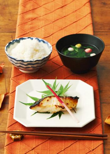 さまざまなお魚で楽しめる西京焼き。材料も作り方もシンプルですが、上品な一品になりますよ。