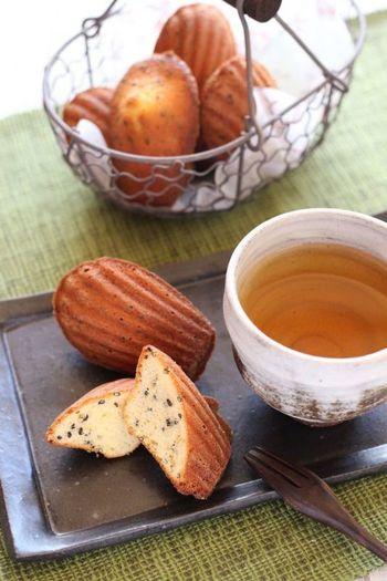 昔おばあちゃんの家で食べたような、ホッとする懐かしい味わいのマドレーヌ。味噌の風味をほんのり感じつつ、日本茶と一緒に召し上がれ。