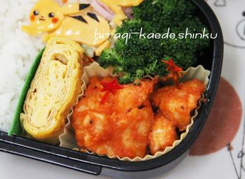 「鶏むね肉のケチャマヨ炒め」は冷めてもおいしいので、お弁当にもピッタリ! 子どもから大人までみんな大好きな味付けです♪