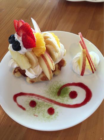 石川県にある「もみの木カフェ」ベルギー人が作る本場のベルギーワッフルを頂けます。お近くの方ならぜひ食べて頂きたいです。カフェの雰囲気もふんわりしていて癒されますよ。