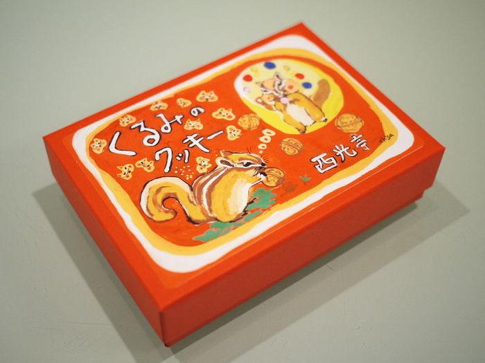 トレードマークのリスが可愛いクッキーのパッケージ。