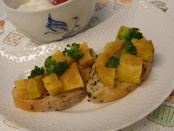 バターの香りがたまらない焼き芋リメイク! パンと一緒に朝食にいかが?