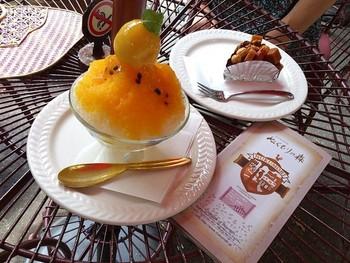 ケーキも可愛いものばかり。夏はかき氷も販売されます。