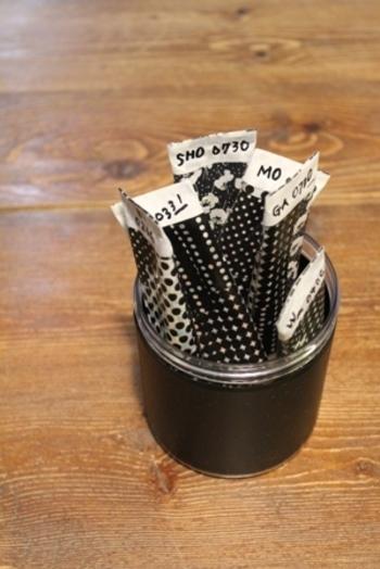 冷蔵庫の片隅にこんな風にカップにまとめていれておけば、すぐに使うことができます。お料理の腕もあがりそうですね。
