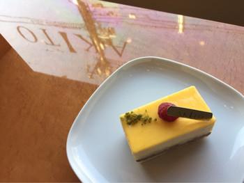 レモンのムースとチョコレートの甘味がくせになります!