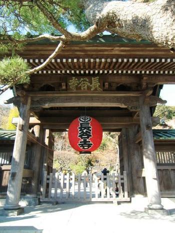由比ヶ浜通りのゴールがパワースポットとしても有名な長谷寺になります。