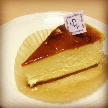 シンプルなチーズケーキも、口の中にしっかりとチーズの風味がやってきます。