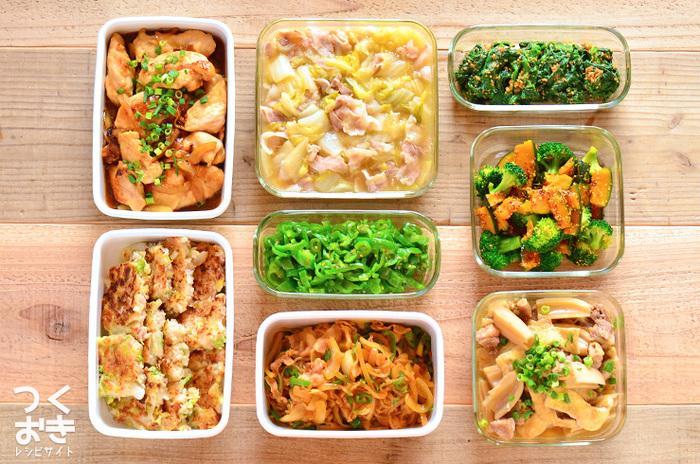 きんぴら、おひたし、筑前煮などは、多めに作って冷凍保存。常備菜があれば、イチから作る手間が省けて大助かりです。
