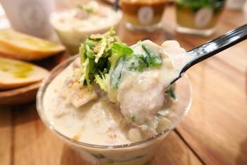 Potato Creamのポテトサラダは今まで食べたこともないような、ふわふわとろとろの新食感!