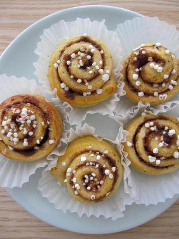 スウェーデンのご家庭でよく作られているシナモンロール。朝食はもちろん、コーヒーと一緒にフィーカに食べるのもおすすめです。
