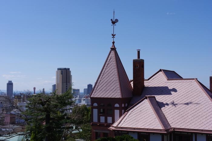 お天気がいい日は、館のすぐ近くの高台から街並みもよく見渡せますよ!