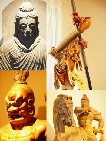 古い彫刻品などが見られるのも人気のひとつなんです!