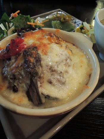 奥多摩野菜の焼きチーズカレー