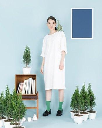 「tan-tan」は洋服がメインのブランドですが、靴下もかわいい! ブランド独自の世界観が靴下の柄に落とし込まれています。